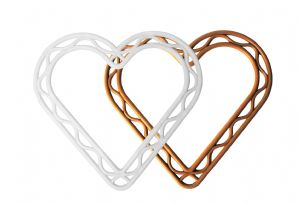 "Flat 8.5"" Plastic Heart Shaped Wreath Frame. Choice of Colour. S7817"